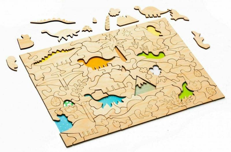 Развивающая деревянная мозаика-раскраска «ДИНОЗАВРЫ» BRADEX DE 0423