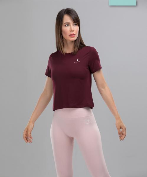Женская спортивная футболка Balance FA-WT-0104, бордовый, FIFTY