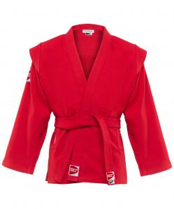Куртка для самбо Junior SCJ-2201, красный, р.0/130, Green Hill