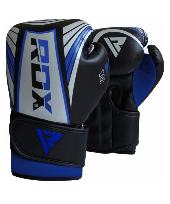 Перчатки боксерские KIDS JBG-1U SILVER/BLUE JBG-1U-6oz, 6 oz, RDX