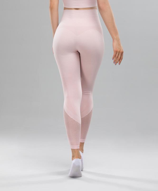 Женские спортивные бесшовные леггинсы Balance FA-WH-0108, розовый, FIFTY