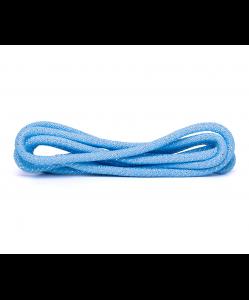 Скакалка для для художественной гимнастики RGJ-304, 3м, голубой/серебряный, с люрексом, Amely