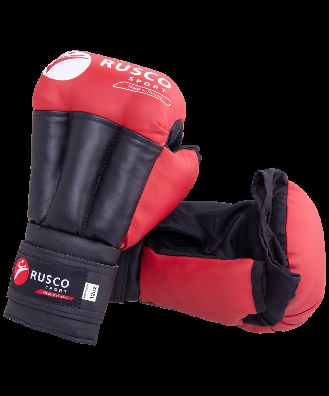 Перчатки для рукопашного боя, к/з, красные, Rusco