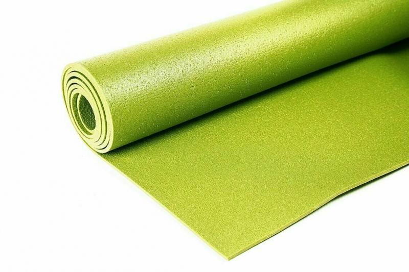 Коврик для йоги Yin-Yang Studio RamaYoga зеленый, 173x60x0.3 см, 1 кг