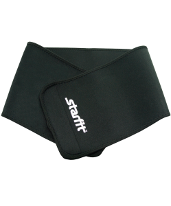 Пояс для похудения SU-202, неопреновый, 100x20 см, черный, Starfit