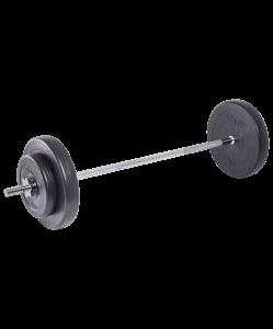 Штанга разборная BB-401, стальной гриф, пластиковые диски, 30 кг, Starfit