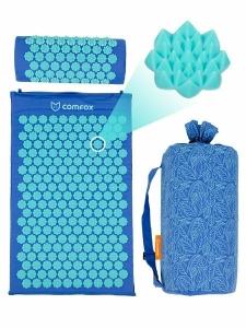 Набор массажный коврик и подушка Comfox синий