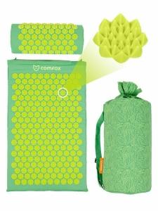 Набор массажный коврик и подушка Comfox зеленый