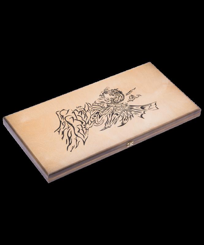Нарды средние Бухарские с деревянными шашками, сувенирные  , Colton