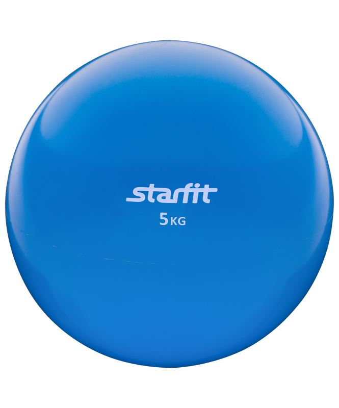 Медбол GB-703, 5 кг, синий, Starfit