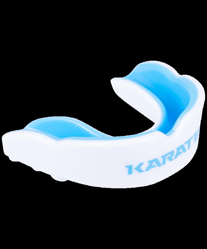 Капа детская Karate MGX-003 kr, с футляром, белый/синий, детская