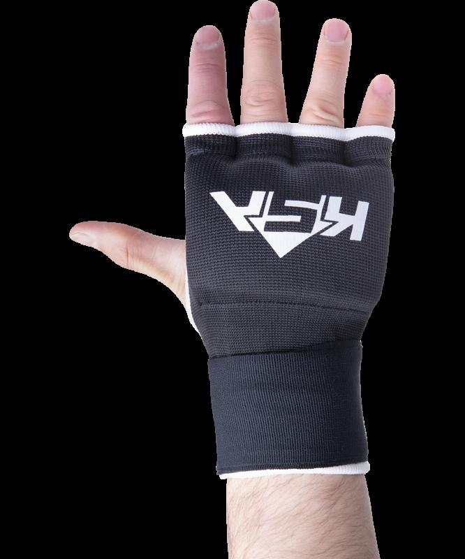 Внутренние перчатки для бокса Bull Gel Black, M, KSA