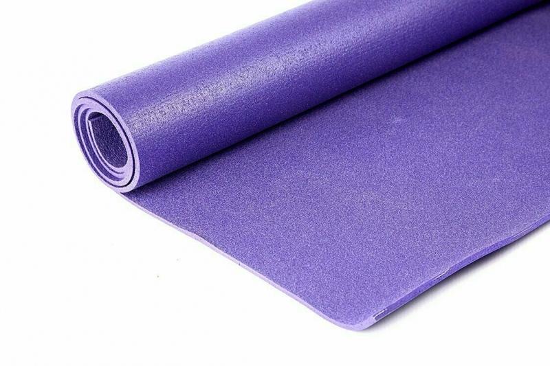Коврик для йоги Инь Янь Студио RamaYoga фиолетовый, 183x60x0.45 см, 1.4 кг