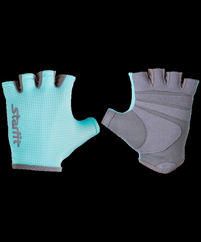 Перчатки для фитнеса SU-127, мятный/серый, Starfit