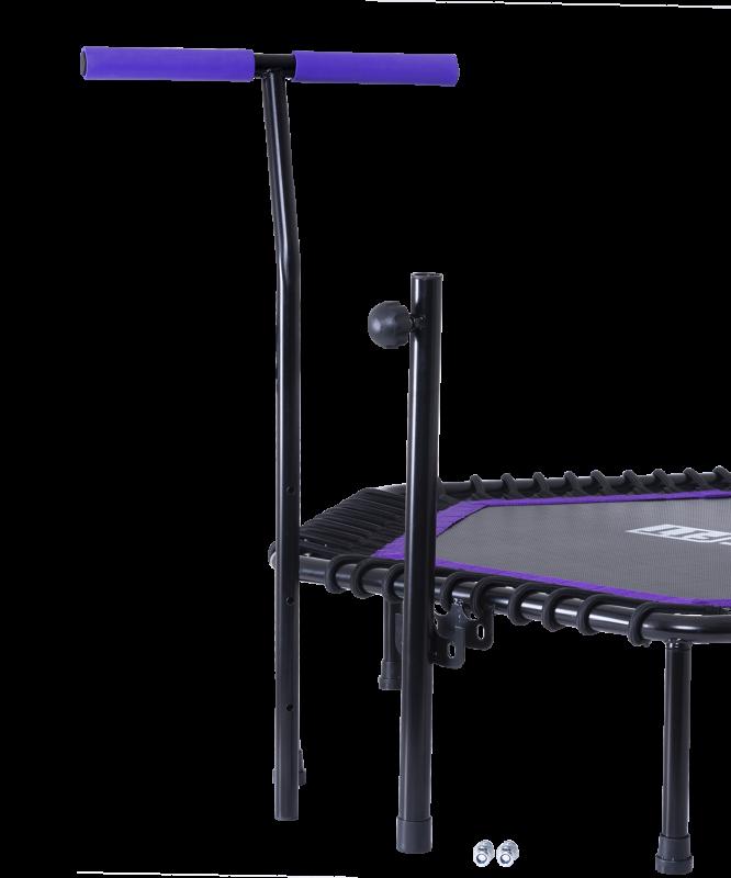 Батут TR-401 122 см с держателем, фиолетовый, BaseFit