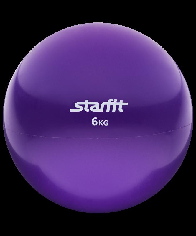 Медбол GB-703, 6 кг, фиолетовый, Starfit
