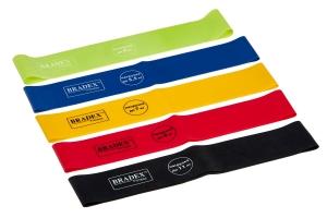 Набор из 5-ти резинок для фитнеса Bradex SF 0673, нагрузка до 4/5,5/7/9/11 кг
