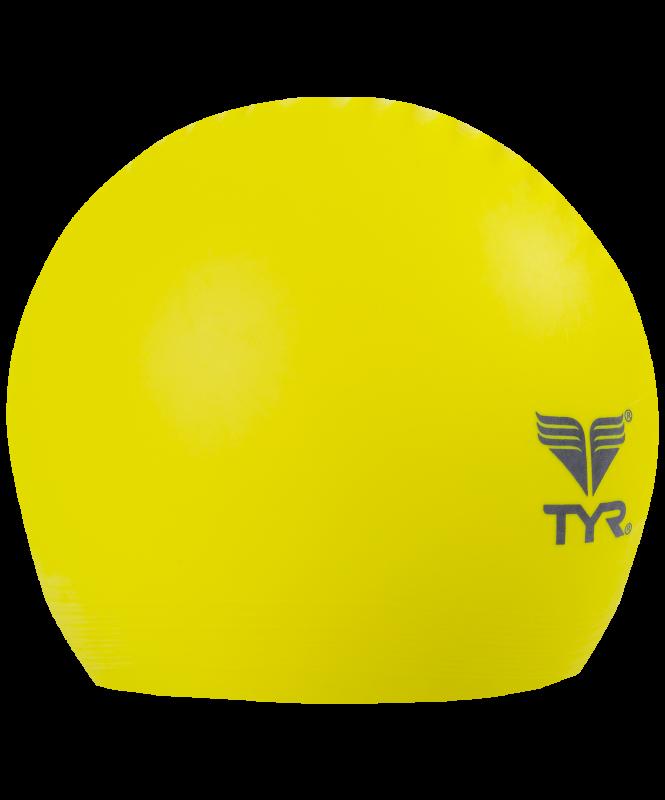 Шапочка для плавания Latex Swim Cap, латекс, LCL/730, желтый, TYR