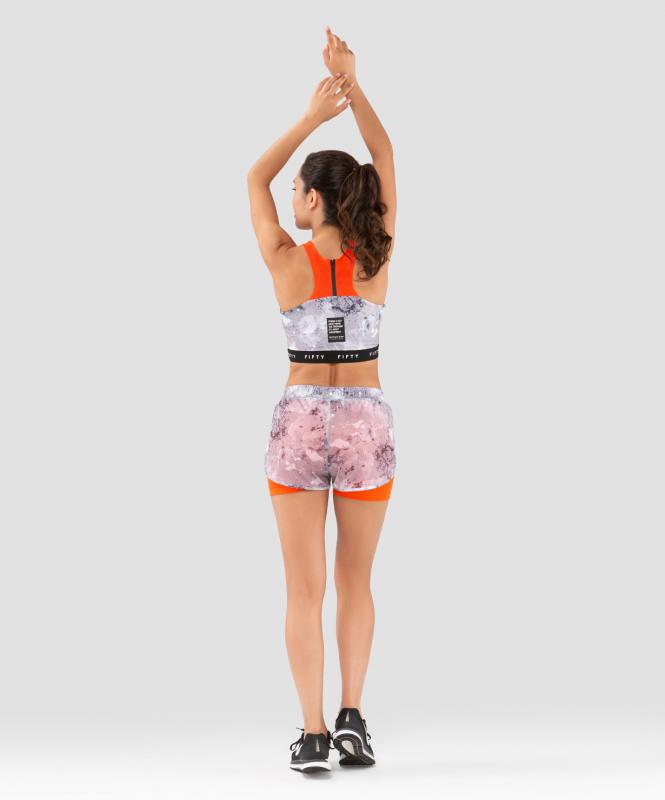 Женские спортивные шорты Mirage FA-WS-0201-680, с принтом, FIFTY
