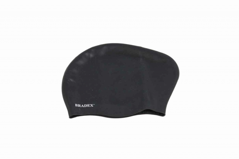 Шапочка для плавания силиконовая для длинных волос, черный BRADEX SF 0364