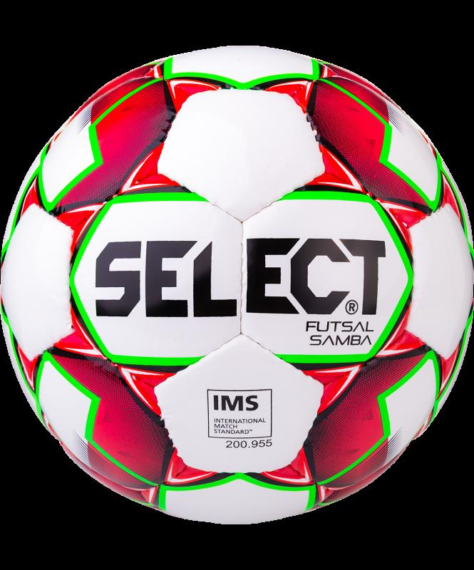 Мяч футзальный Futsal Samba IMS 852618, №4, белый/красный/зеленый, Select