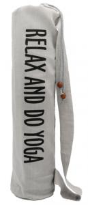 Чехол для коврика Do Yoga льняной EGOyoga серый, 70 см, диам. 15 см
