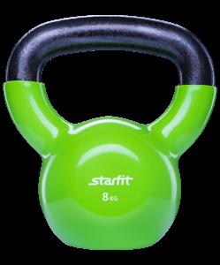 Гиря виниловая DB-401, зеленая, 8 кг, Starfit