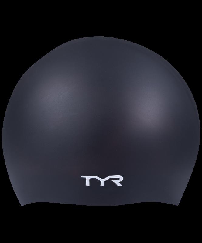 Шапочка для плавания Wrinkle Free Silicone Cap, силикон, LCS/001, черный, TYR