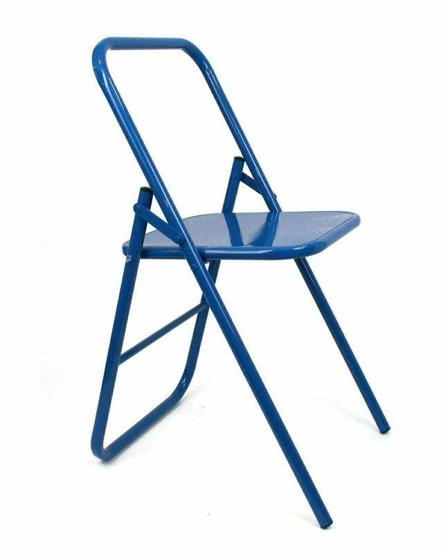 Стул для занятий йогой RamaYoga синий, 41 см, 7 кг