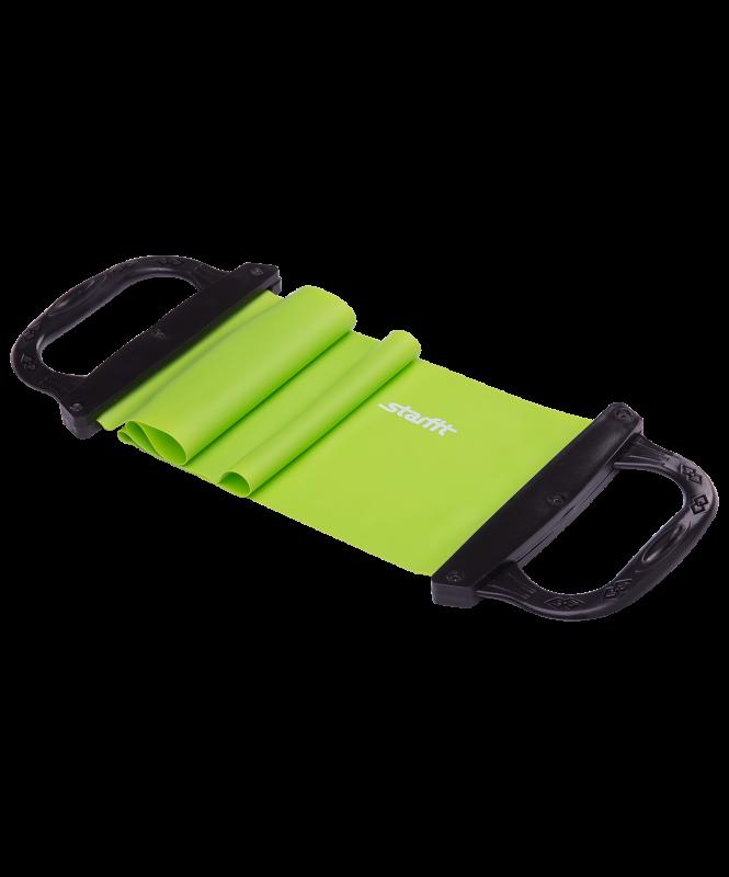 Эспандер ленточный ES-202 жесткая ручка, зеленый, Starfit