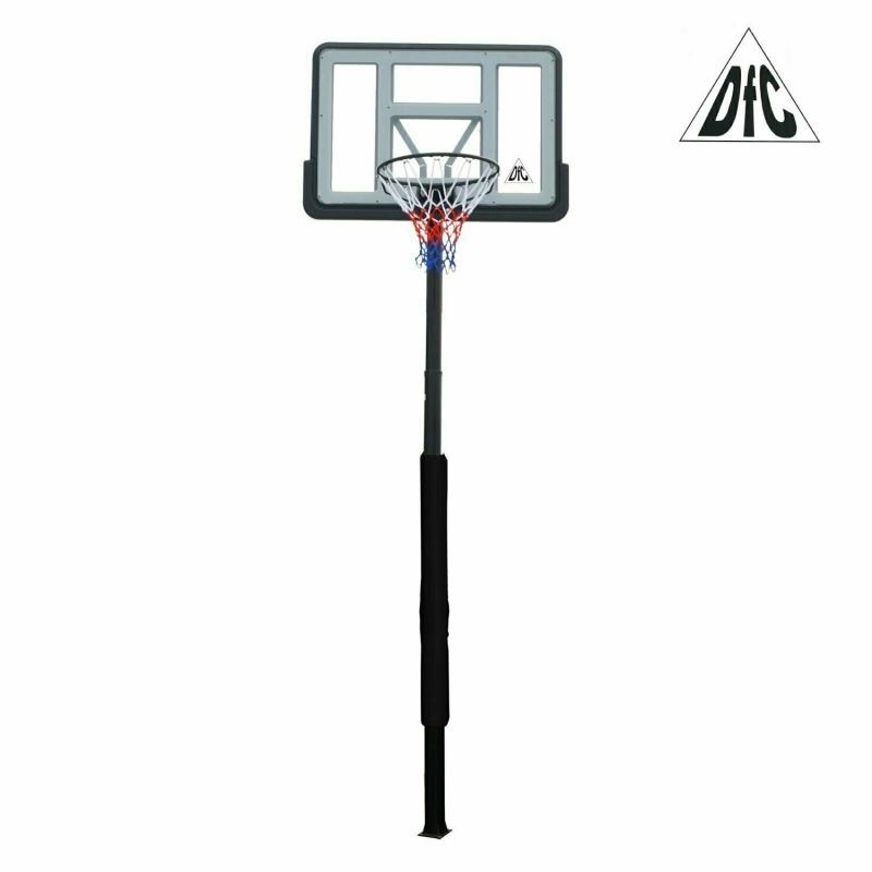 Баскетбольная стационарная стойка DFC ING44P3 112x75cm раздвиж. рег-ка (три короба)