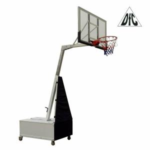 Баскетбольная мобильная стойка DFC STAND56SG 143x80CM поликарбонат (3кор)