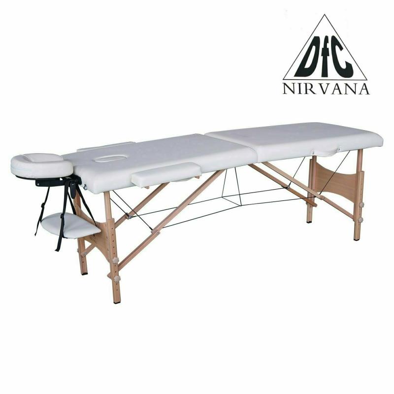 Массажный стол DFC NIRVANA, Optima, дерев. ножки, цвет кремовый (Cream)