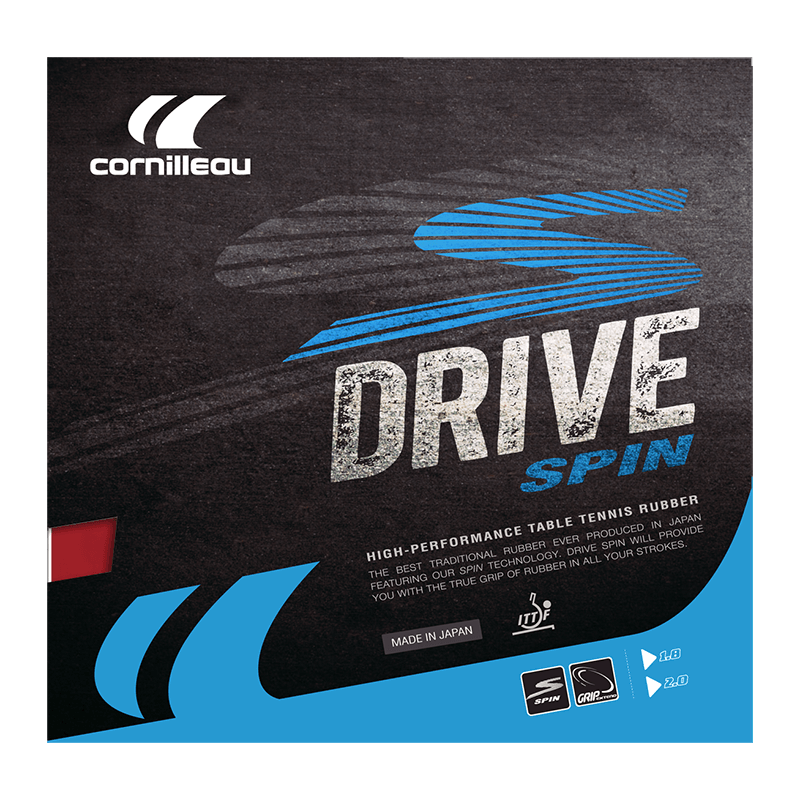 Накладка на ракетку для настольного тенниса Cornillleau DRIVE SPIN 2мм Черная