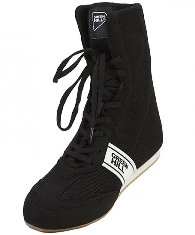 Обувь для бокса Special LSB-1801, высокая, черный, Green Hill