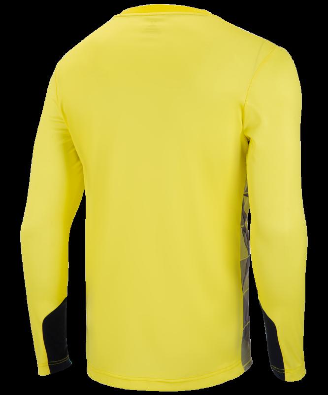 Свитер вратарский DIVISION PerFormDRY GK Pattern LS, желтый/черный/белый, Jögel