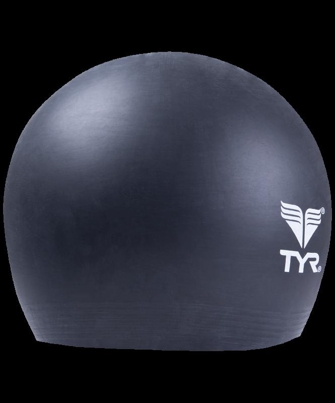Шапочка плавательная Latex Swim Cap, латекс,LCL/001,  черный, TYR