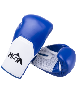 Перчатки боксерские Scorpio Blue, к/з, 10 oz, KSA