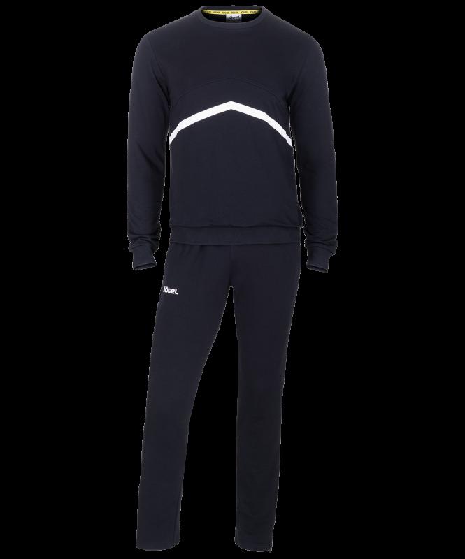 Тренировочный костюм JCS-4201-061, хлопок, черный/белый, Jögel