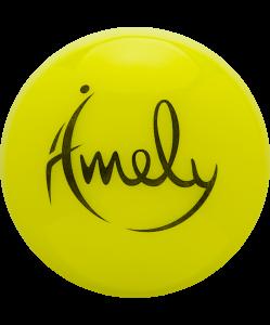 Мяч для художественной гимнастики AGB-301 15 см, желтый, Amely