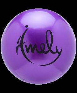 Мяч для художественной гимнастики AGB-301 15 см, фиолетовый, Amely