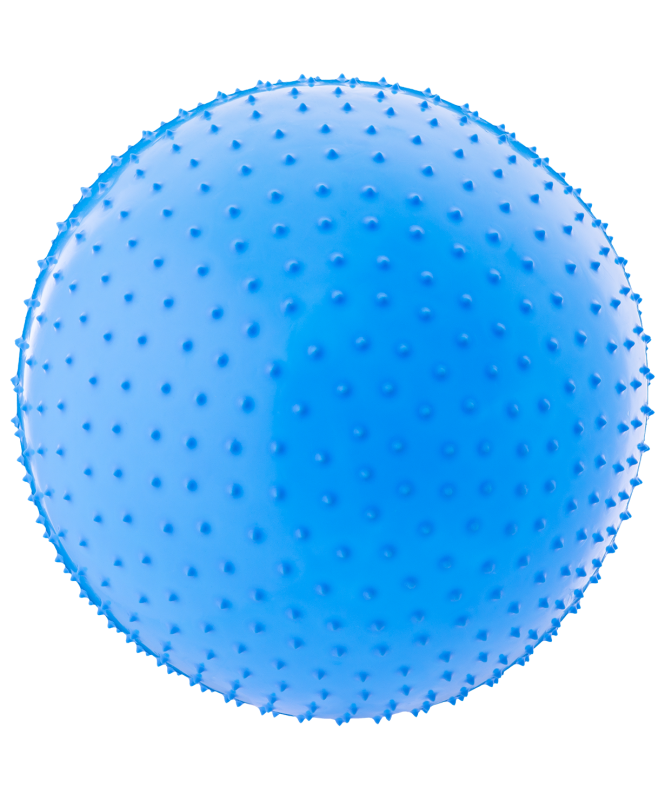 Мяч гимнастический массажный GB-301 75 см, антивзрыв, синий, Starfit