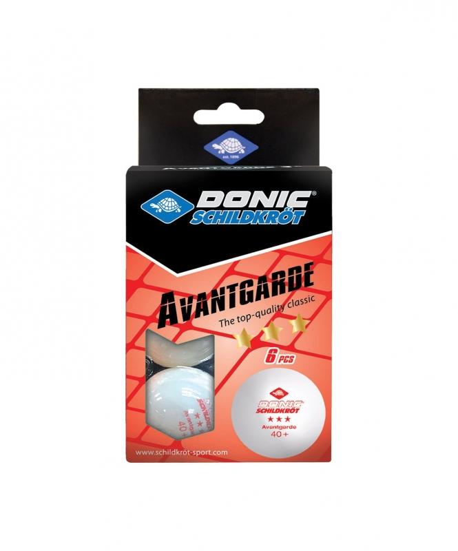 Мяч для настольного тенниса 3* Avantgarde, 6 шт., белый  , DONIC