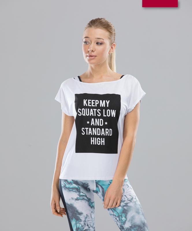 Женская спортивная футболка Intense FA-WT-0103, белый, FIFTY