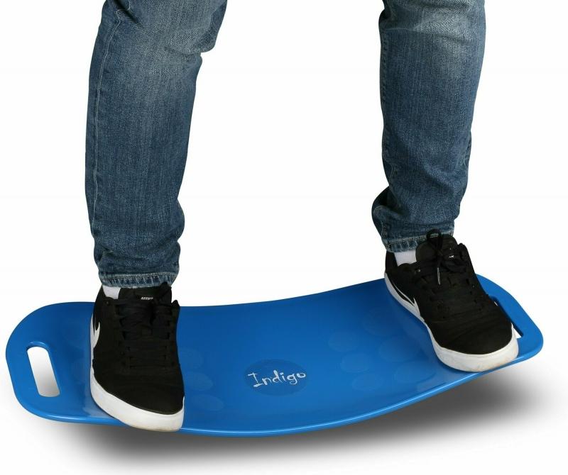 Доска балансировочная INDIGO workout board twist голубая