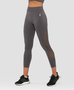 Женские тайтсы Essential Knit dark grey FA-WH-0202-DGR, темно-серый, FIFTY