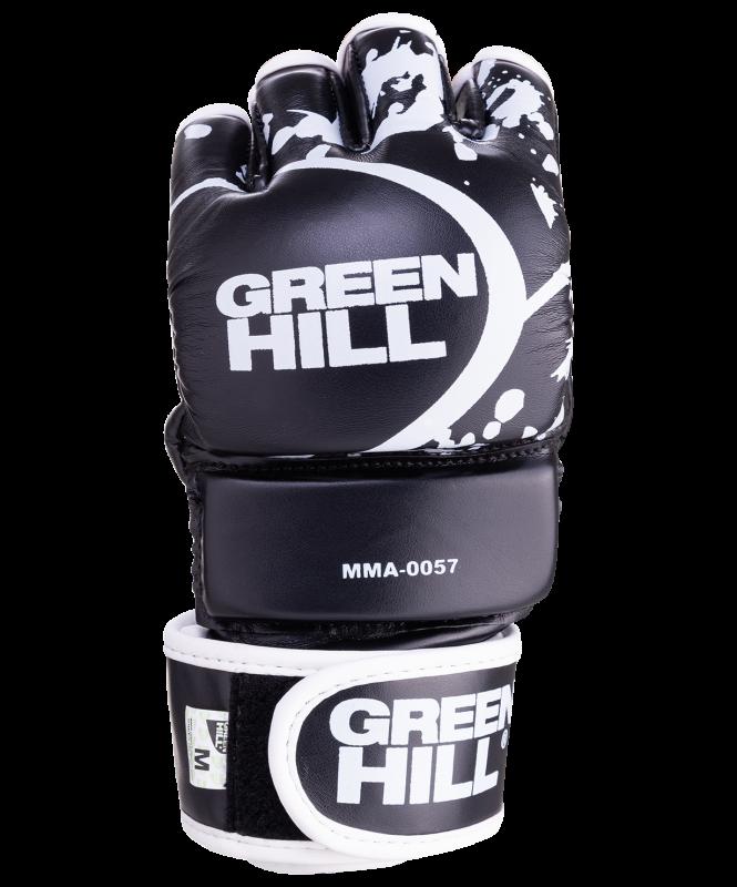 Перчатки для MMA-0057, к/з, черные, Green Hill