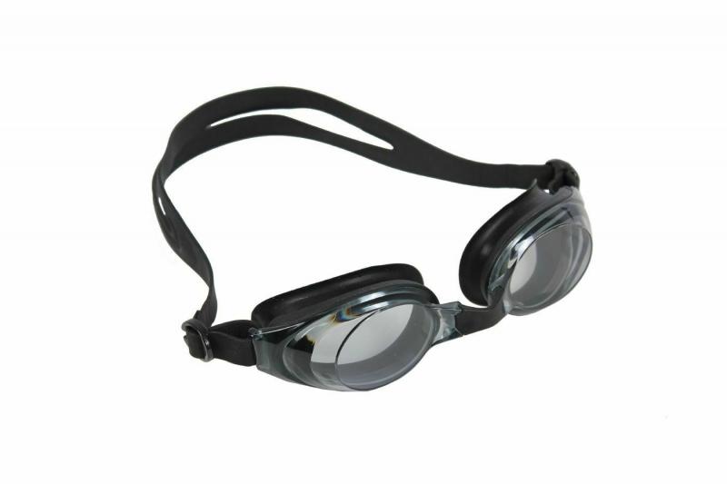 """Очки для плавания, серия """"Регуляр"""", черные, цвет линзы - серый BRADEX SF 0392"""