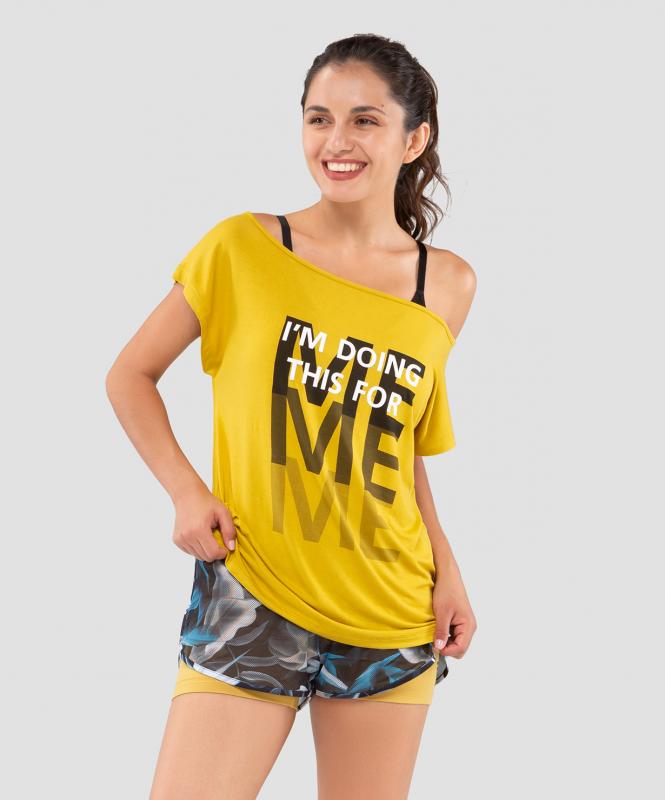 Женская футболка Ease Off mustard FA-WT-0202-MSD, горчичный, FIFTY