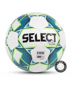 Мяч футзальный FUTSAL SUPER FIFA №4, бел/син/зел, Select